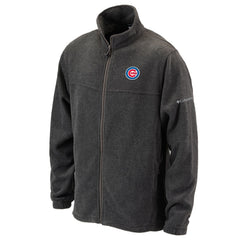 Chicago Cubs Flanker Fleece Jacket by Columbia Sportswear-Gray - Pro Jersey Sports