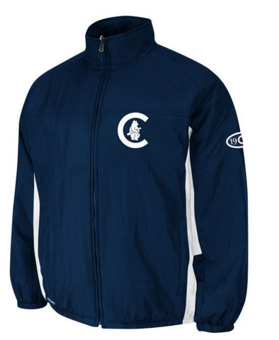 Chicago Cubs Majestic MLB Cooperstown On-Field Double Climate Therma Base Jacket - Pro Jersey Sports - 1