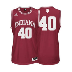 ADIDAS Crimson Men's Basketball Replica No. 40 Indiana Jersey - Pro Jersey Sports