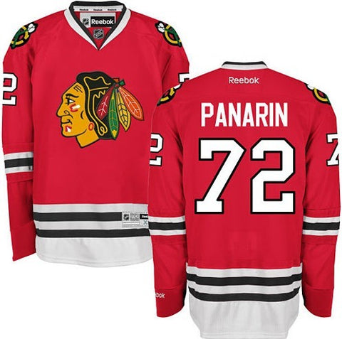 Chicago Blackhawks Mens Artemi Panarin Premier Home Jersey with AUTHENTIC TACKLE-TWILL LETTERING