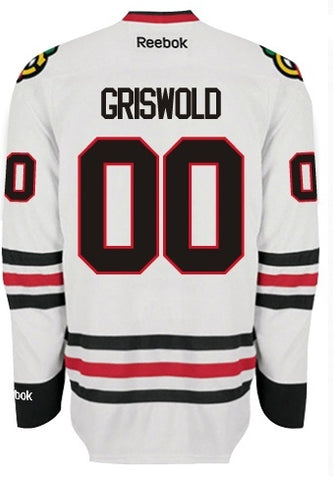 Chicago Blackhawks Mens Clark GRISWOLD #00 Premier Road Jersey with AUTHENTIC TACKLE-TWILL LETTERING - Pro Jersey Sports - 1