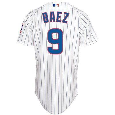 Chicago Cubs Authentic Javier Baez Home Cool Base Jersey - Pro Jersey Sports - 1