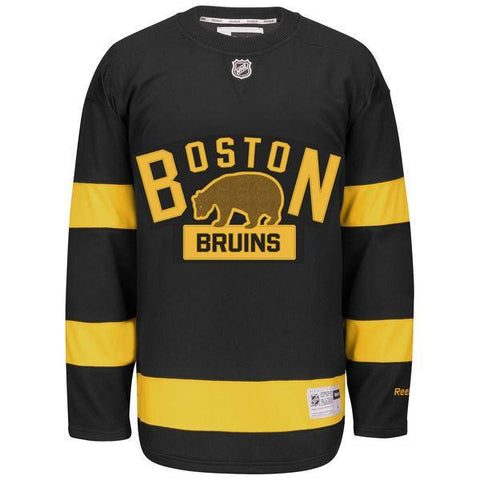Men's Boston Bruins Reebok Black 2016 Winter Classic Premier Jersey