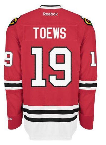 Mens Chicago Blackhawks Jonathan Toews Edge 2 Authentic Home Jersey by Reebok