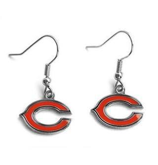 "Chicago Bears ""C"" Dangle Earrings - Pro Jersey Sports"