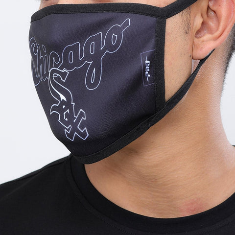 Chicago White Sox Pro Standard Black Script Logo 2 Pack Face Mask