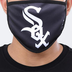 Chicago White Sox Pro Standard Black White Sox Logo 2 Pack Face Mask