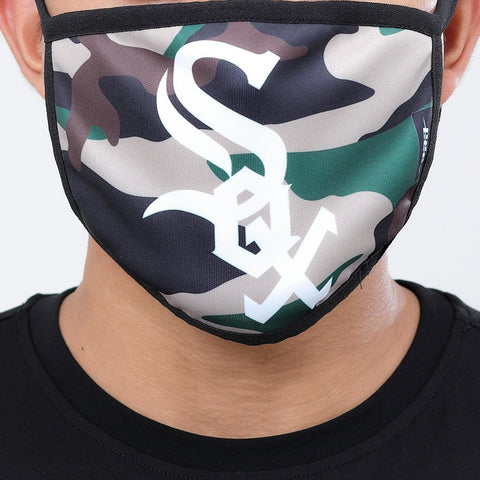 Chicago White Sox Pro Standard Camo White Sox Logo 2 Pack Face Mask