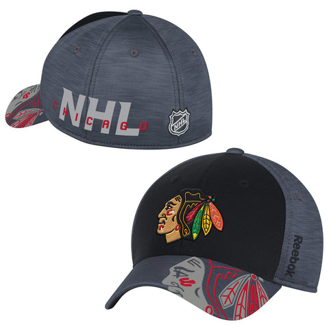 Men's Chicago Blackhawks 2017 Stanley Cup Playoffs Flex Fit Hat With No Playoff Patch By Reebok