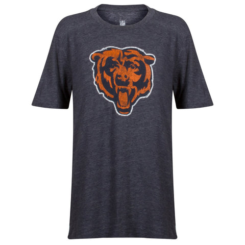 Chicago Bears Youth NFL Secondary Logo Triblend Short Sleeve T-Shirt