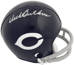 Dick Butkus Chicago Bears Autographed Riddell Throwback Mini Helmet - Pro Jersey Sports