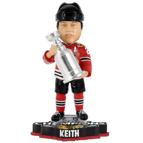 Duncan Keith Chicago Blackhawks 2013 NHL Stanley Cup Final Champions Player Trophy Bobblehead - Pro Jersey Sports