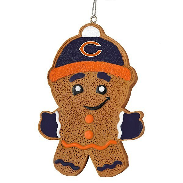 Chicago Bears Gingerbread Man Ornament Pro Jersey Sports
