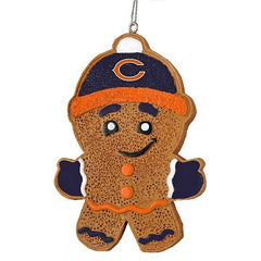 CHICAGO BEARS GINGERBREAD MAN ORNAMENT - Pro Jersey Sports