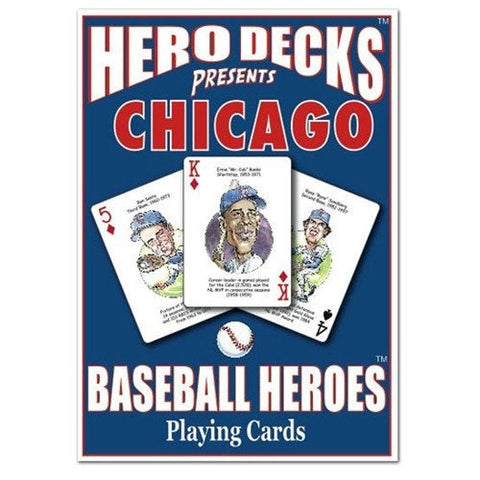 Chicago Cubs MLB Hero Decks Playing Cards Poker Sized 52 Card Deck - Pro Jersey Sports - 1