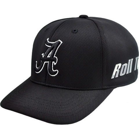 Alabama Crimson Tide Black Ultrasonic One-Fit Flex Hat