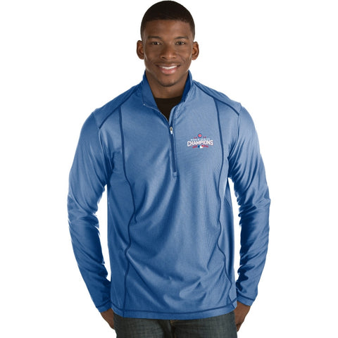 Antigua Men's 2016 World Series Champions Chicago Cubs Royal Tempo Quarter-Zip Pullover
