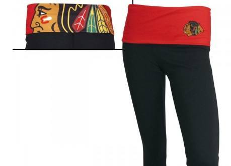 Chicago Blackhawks Ladies Capri Leggings - Pro Jersey Sports