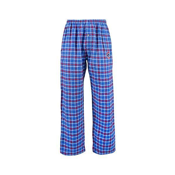 Chicago Cubs Match Up Flannel Pant By Concepts Sport Pro