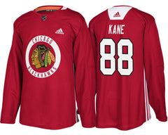 Men's Chicago Blackhawks Patrick Kane Adidas Red Authentic Practice Jersey