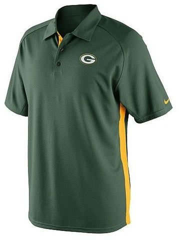 Men's Nike Green Bay Packers Dri-FIT Coaches 2 Team Color Polo - Pro Jersey Sports