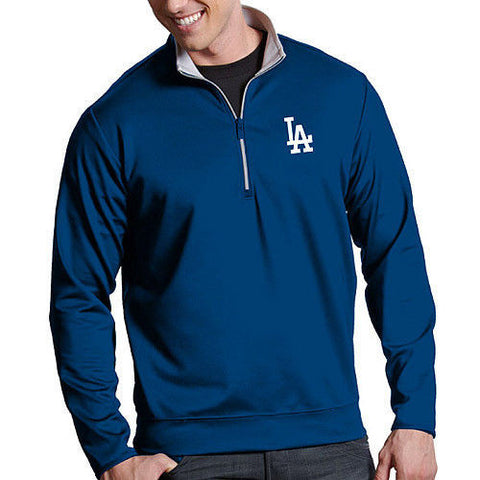 Antigua Men's Los Angeles Dodgers Leader Quarter-Zip Pullover - Pro Jersey Sports