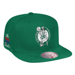Boston Celtics 1986 NBA Finals Side Patch Kelly Green Mitchell & Ness Snapback Hat