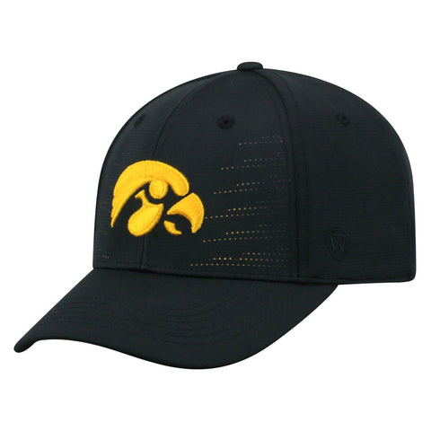 Mens Iowa Hawkeyes Dazed One Fit Flex Fit Hat By Top Of The World