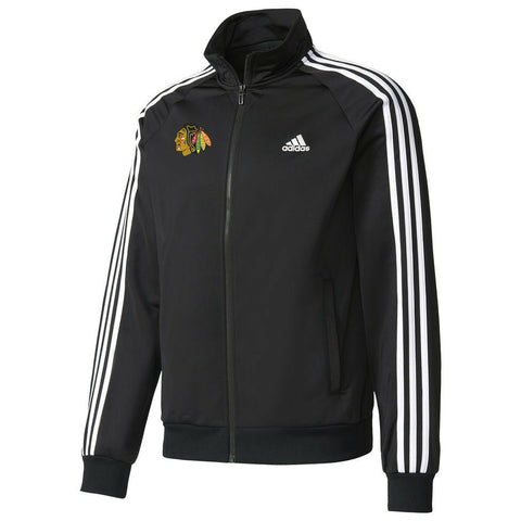 Chicago Blackhawks Adidas Adult Black Climalite Soft Shell 1/4-Zip Jacket