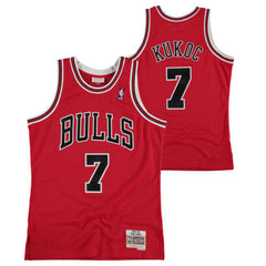 Mens Chicago Bulls Toni Kukoc Mitchell & Ness Red 1997-98 Hardwood Classics Swingman Jersey