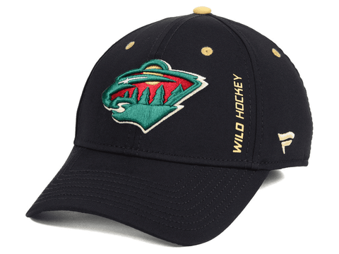 Minnesota Wild Fanatics Branded Black Authentic Pro Rinkside Speed Flex Hat