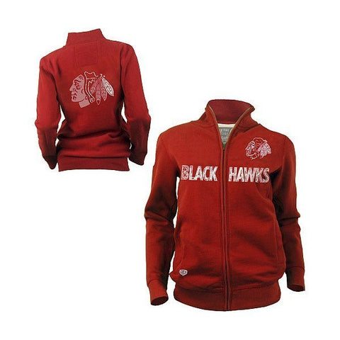 Old Time Hockey Chicago Blackhawks Women's Brita Full Zip Fleece Jacket - Pro Jersey Sports