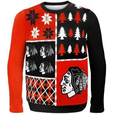 Youth Chicago Blackhawks Busy Block Ugly Sweater