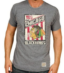 Chicago Blackhawks 1926 Tri-Blend Tee by Retro Brand - Pro Jersey Sports