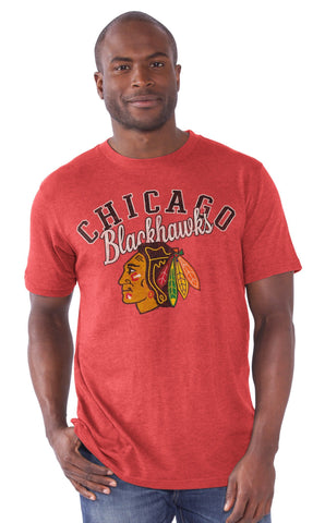 Chicago Blackhawks Playmaker Slub Tri-Blend T-Shirt - Pro Jersey Sports
