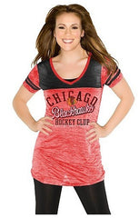 Chicago Blackhawks Women's The Coop V-Neck T-Shirt - Pro Jersey Sports