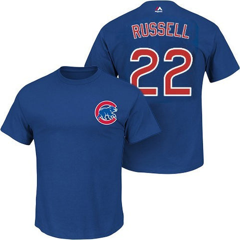 Chicago Cubs Addison Russell Adult Player T-Shirt - Pro Jersey Sports