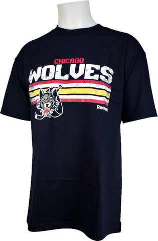 CHICAGO WOLVES TEAM STRIPES TEE BY REEBOK