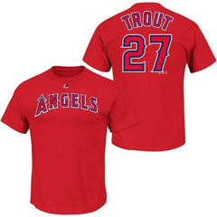 Los Angeles Angels of Anaheim Mike Trout Name & Number T-Shirt