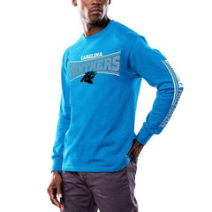 Men's Carolina Panthers Majestic Blue Primary Receiver Long Sleeve T-Shirt