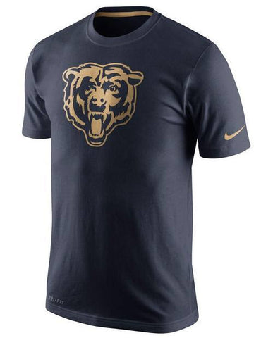 Men's Chicago Bears Nike Navy Championship Drive Gold Collection Performance T-Shirt