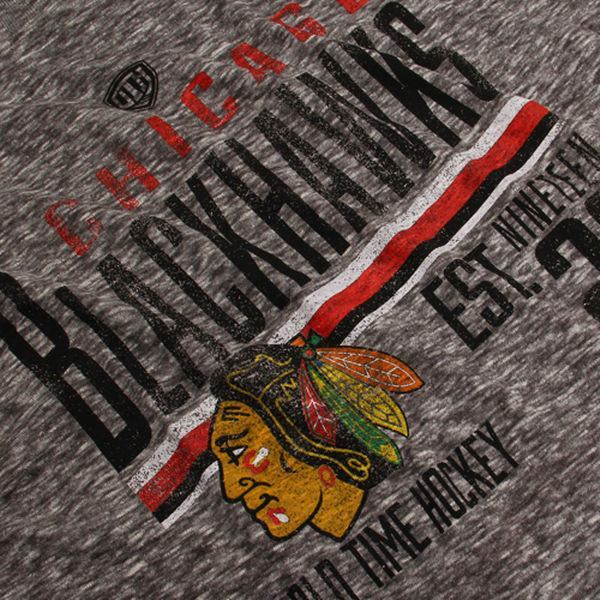 Chicago Blackhawks Old Time Hockey Charcoal Combined Tri