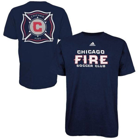 Mens Chicago Fire SC adidas Navy Blue Primary One T-Shirt-