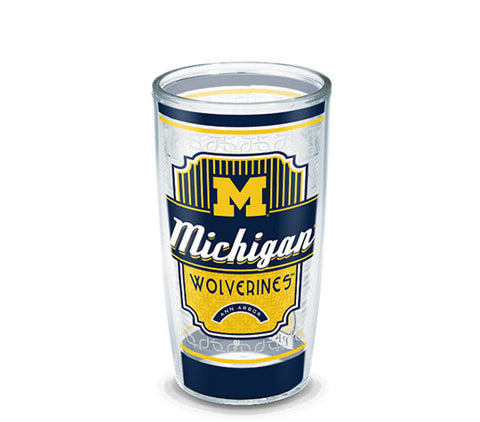 Michigan Wolverines Pregame Prep Wrap 16oz Tumbler-Tervis