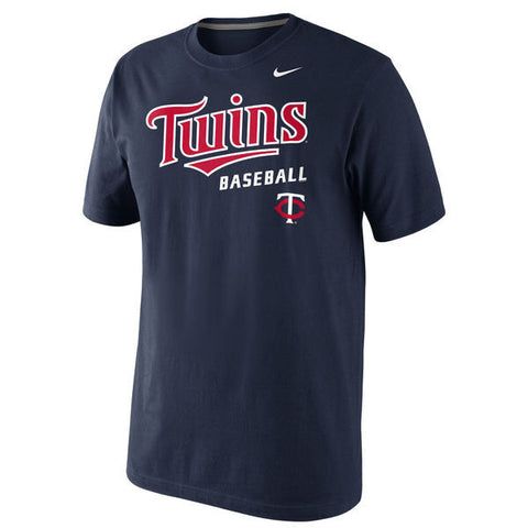 Men's Minnesota Twins Nike Navy Home Practice T-Shirt - Pro Jersey Sports