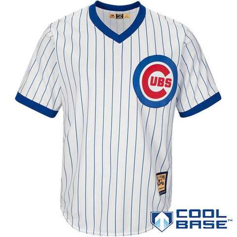 Men's Chicago Cubs Majestic White Home Cooperstown Cool Base Team Jersey