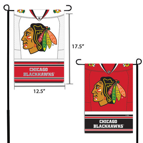 "Chicago Blackhawks 12.5"" x 18"" Double-Sided Jersey Foil Garden Flag"
