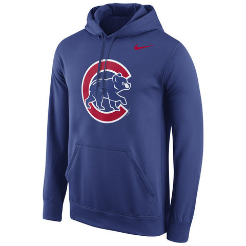 Men's Chicago Cubs Nike Royal Logo Performance Pullover Hoodie