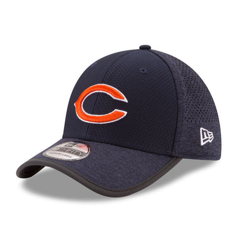 Men's Chicago Bears New Era Navy 2017 Training Camp Official 39THIRTY Flex Hat