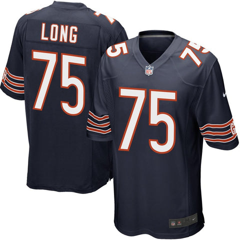 Youth Chicago Bears Kyle Long Nike Navy Blue Team Color Game Jersey